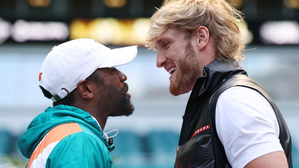 Logan Paul vs. Floyd Mayweather Updated Odds, Picks, Betting Predictions: How to Play Mayweather as Huge Favorite on Sunday (June 6) article feature image
