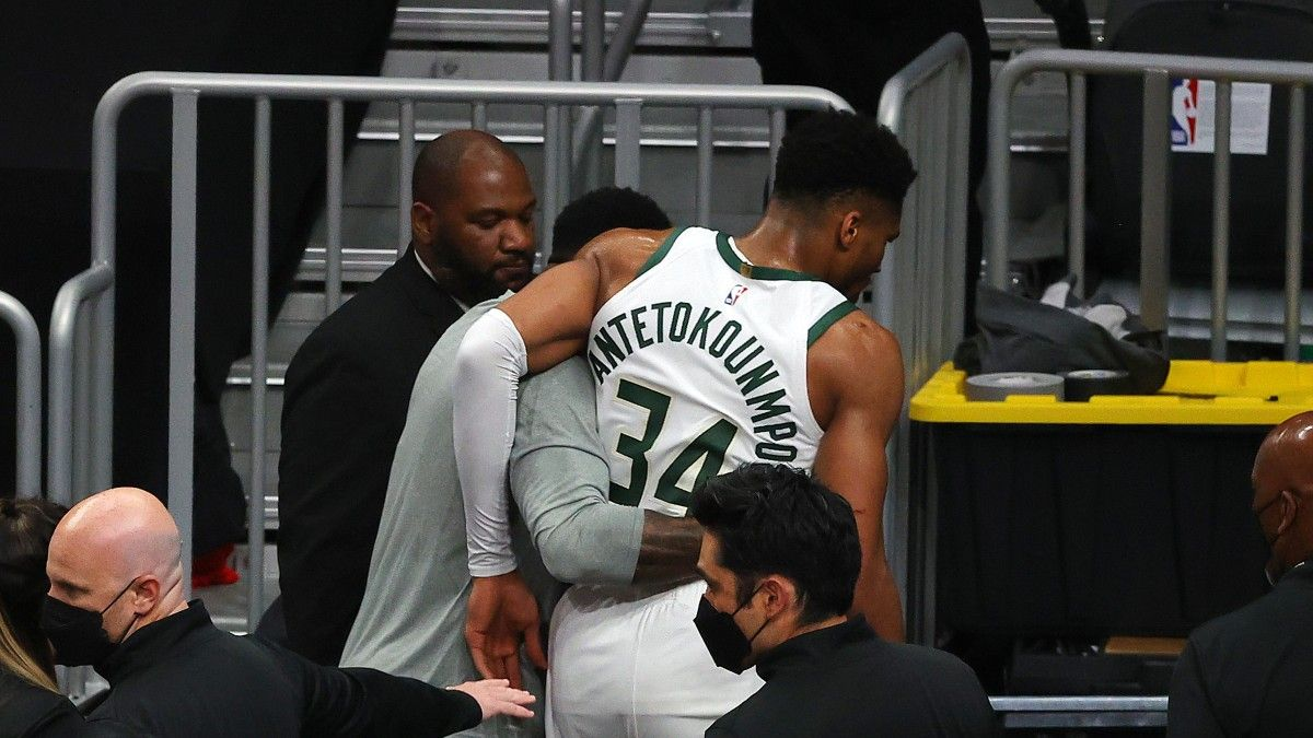 How NBA Title Odds Moved After Giannis Antetokounmpo's Injury article feature image