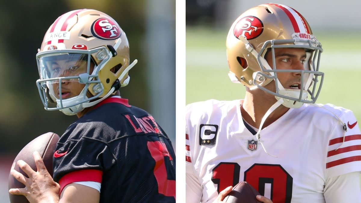 Trey Lance or Jimmy Garoppolo? How To Bet the 49ers' Starting QBs For Week 1 article feature image