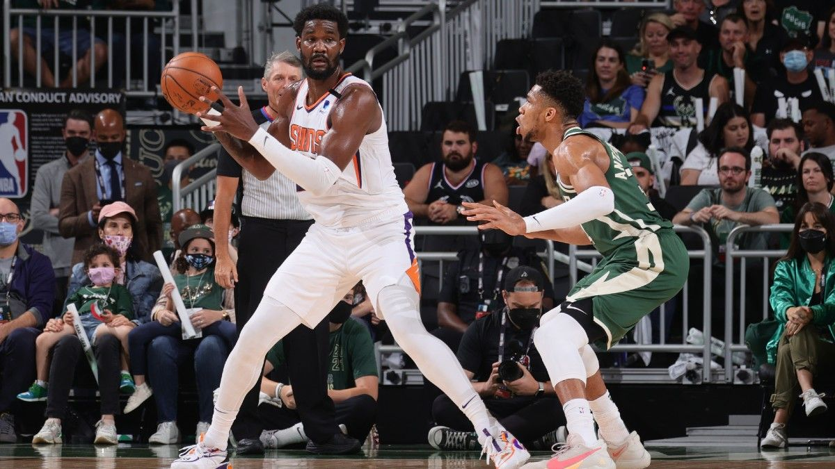 Moore's NBA Finals Angles: Giannis vs. Ayton Key for Bucks' Chances of Evening Series article feature image