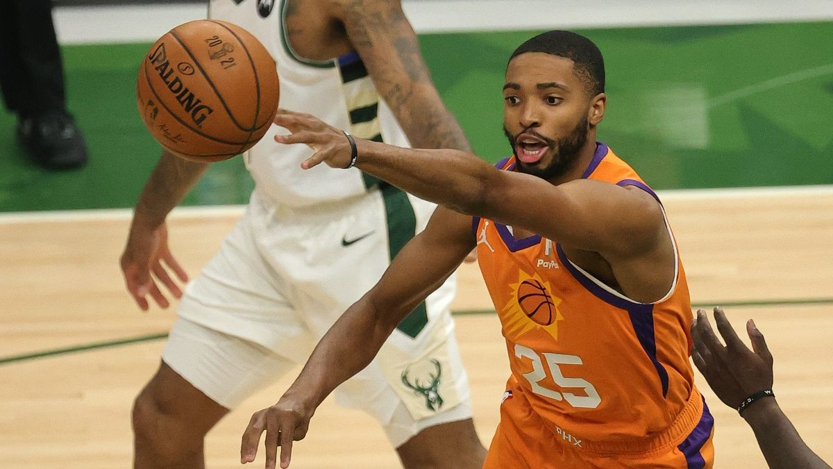 NBA Finals Bucks vs. Suns Parlay: How to Bet Chris Paul & Mikal Bridges in Game 5 (Saturday, July 17) article feature image