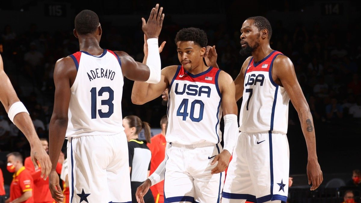 Olympics Men's Basketball Betting Preview: 13 Picks from The Action Network Podcast article feature image