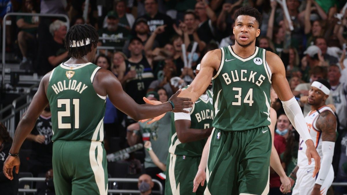 Suns vs. Bucks Game 6 Parlay: How to Bet Giannis Antetokounmpo & Jrue Holiday In NBA Finals (July 20) article feature image