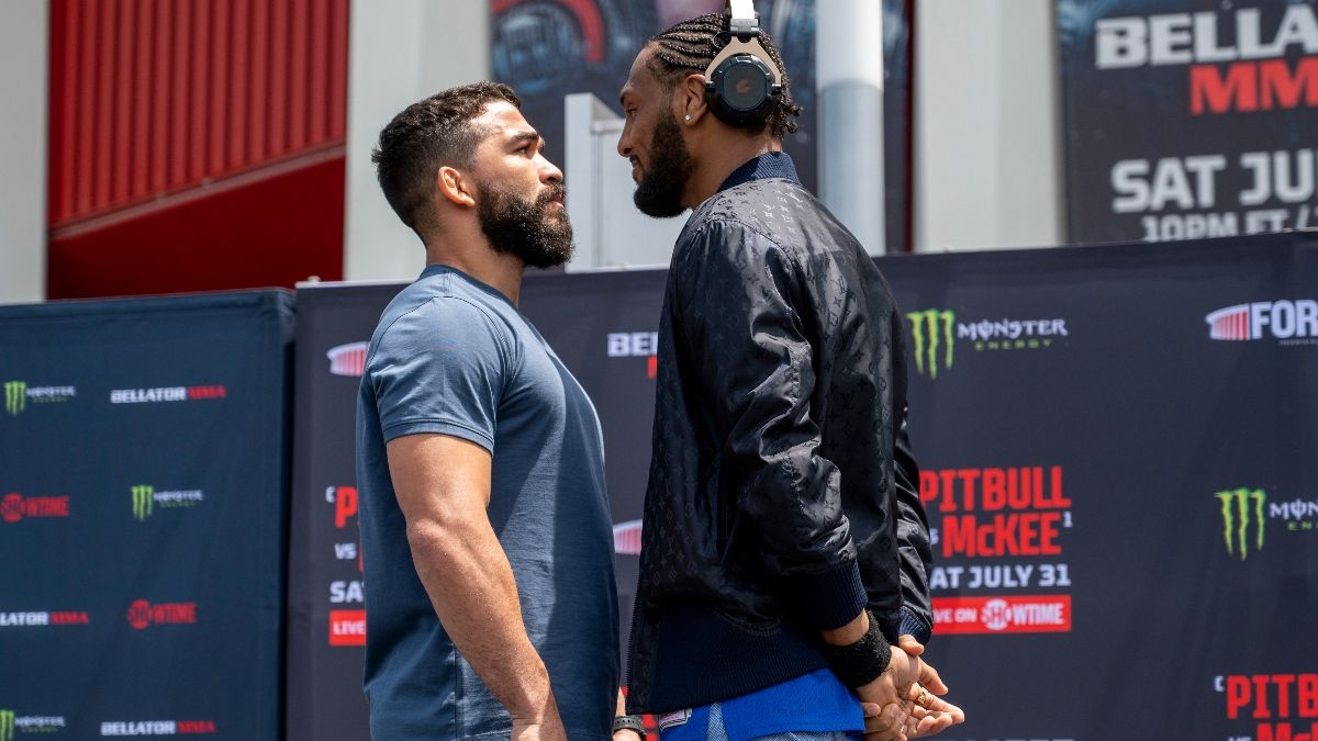 Patricio 'Pitbull' Freire vs. A.J. McKee Bellator 263 Odds: Champion Favored in Featherweight Grand Prix Final (July 31) article feature image