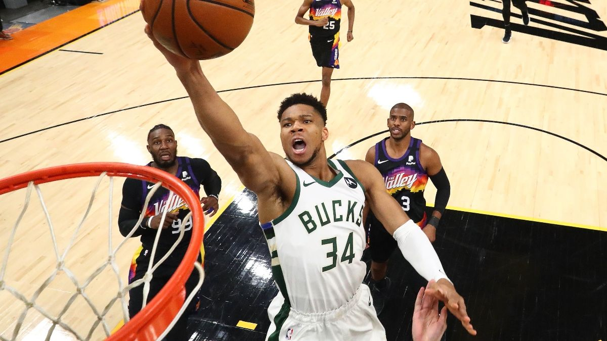 NBA Finals Sports Betting Odds, Promo: Bet $25, Win $125 if Giannis Scores a Point! article feature image