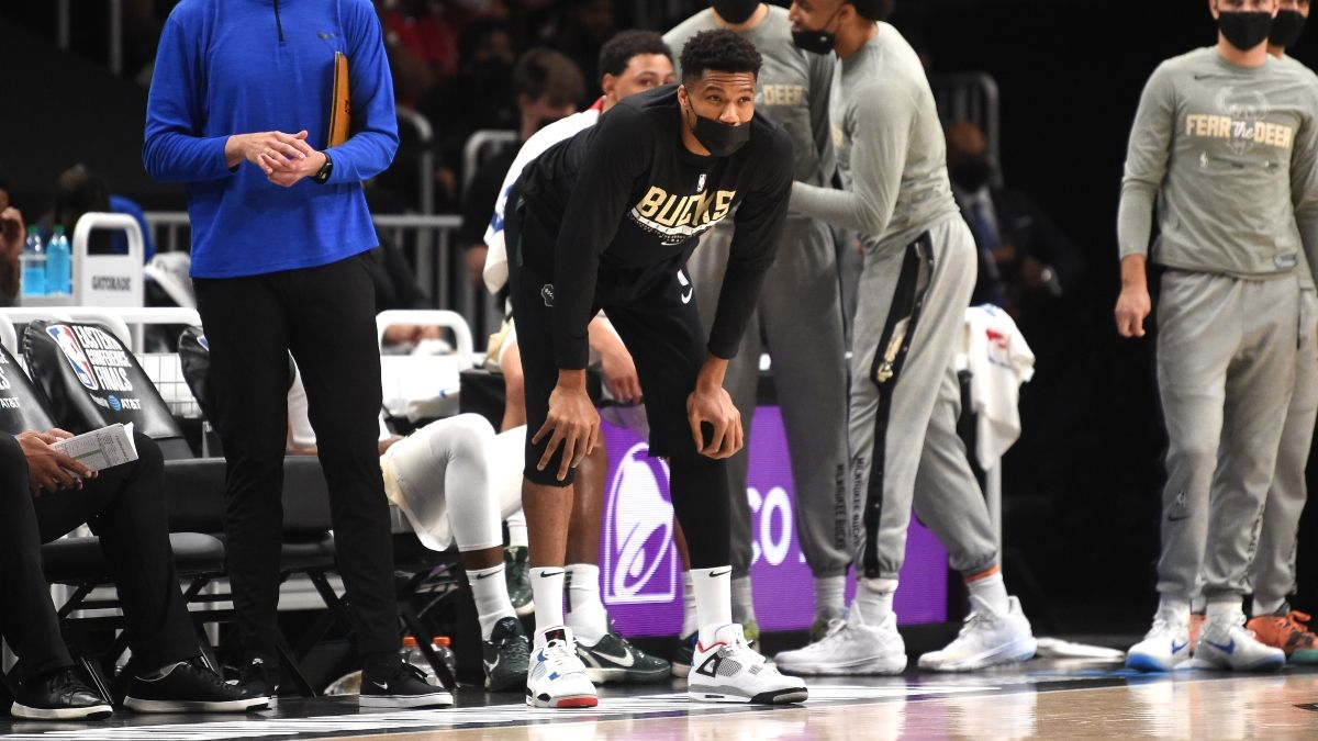 Updated Giannis Antetokounmpo Injury Status Moving Bucks vs. Suns NBA Finals Game 1 Odds article feature image