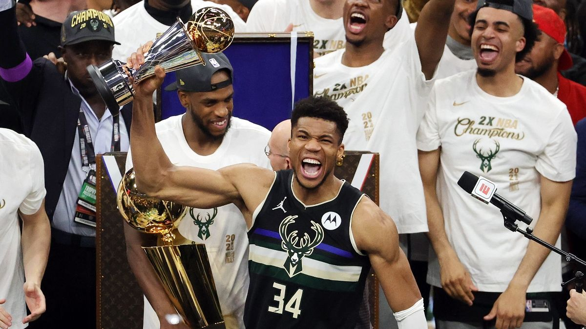 NBA Title Odds: Bucks Behind Nets & Lakers for 2022 Championship article feature image