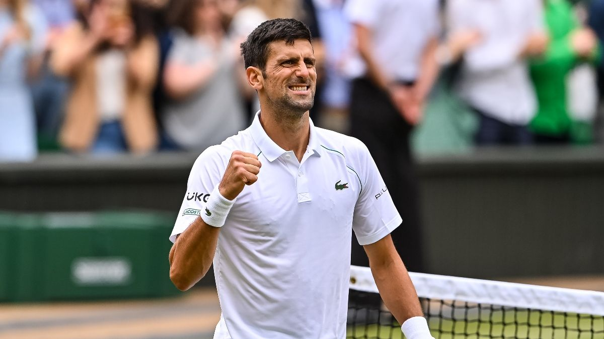 Novak Djokovic Wimbledon 2021 Odds, Promo: Bet $20, Win $200 if Djokovic Scores a Point article feature image