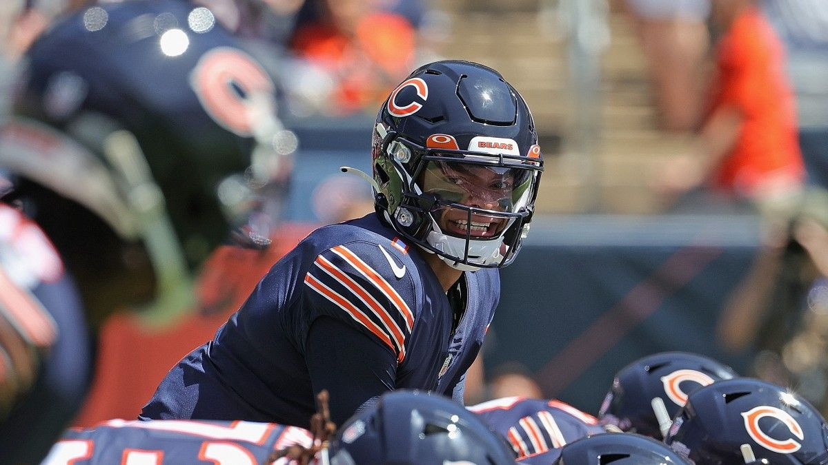 Justin Fields Bears Starting QB Odds: Rookie Gaining Steam on Andy Dalton Ahead of Week 1 article feature image