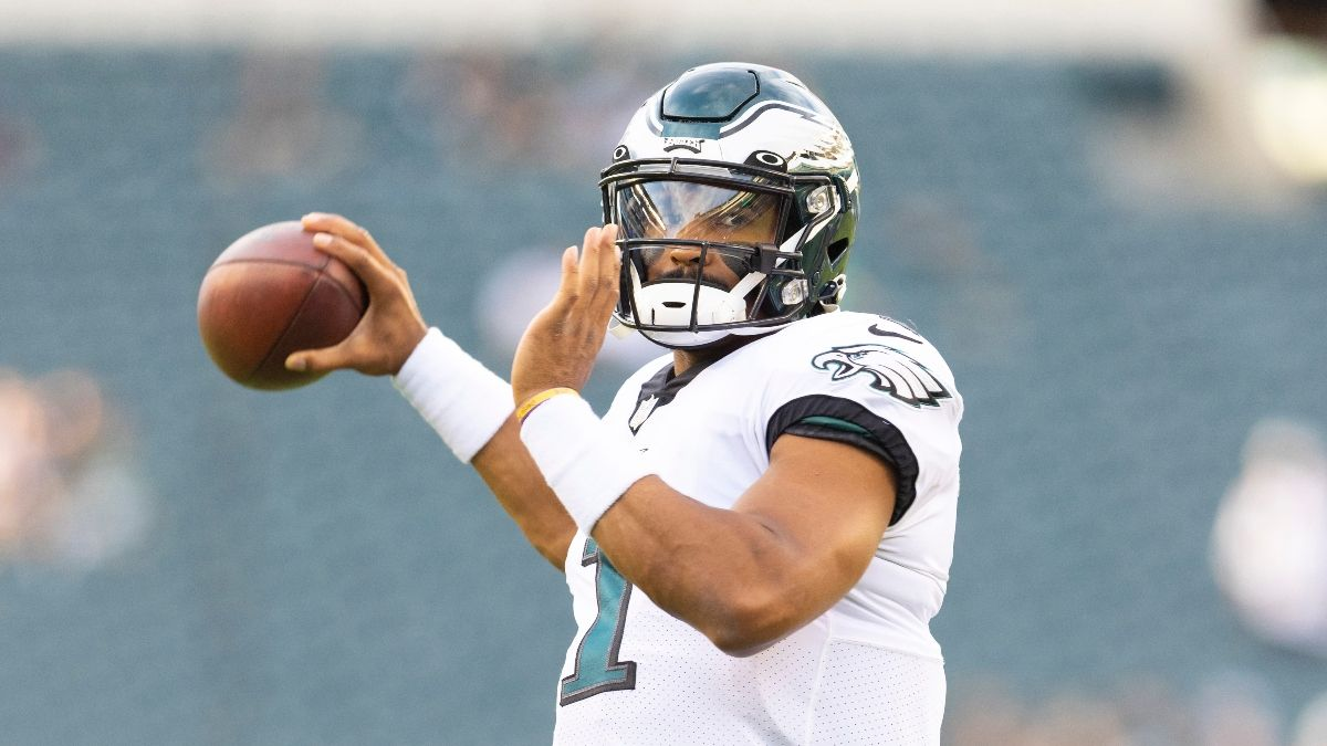 Caesars New Jersey Promo: Get a Risk-Free Bet Up to $5,000 on Eagles vs. Falcons and a Free NFL Jersey! article feature image