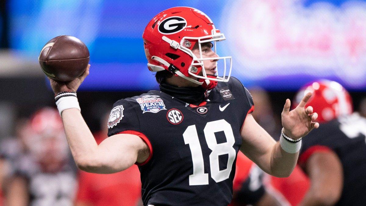 JT Daniels Injury: How Georgia QB's Status is Affecting UAB vs. Georgia Betting Odds article feature image