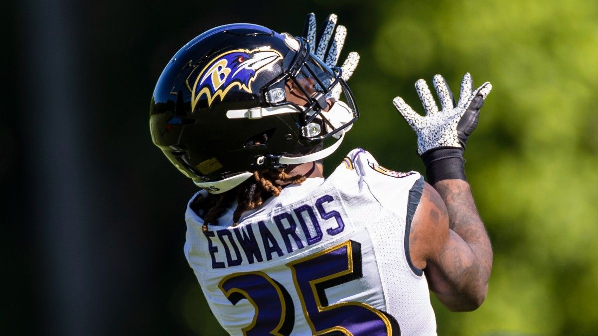 Gus Edwards, Marcus Peters Injuries Moving Ravens vs. Raiders NFL Week 1 Odds article feature image