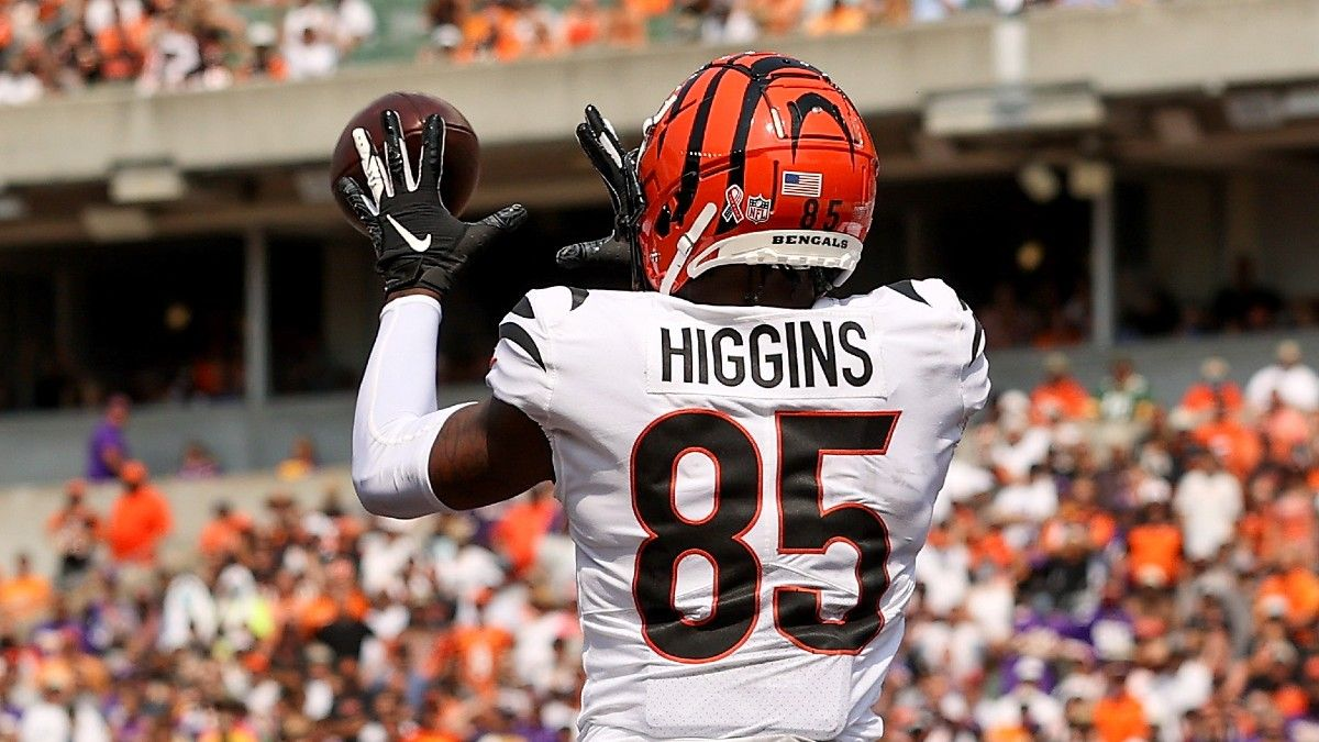 Ja'Marr Chase, Tyler Boyd Fantasy Football Rankings & Advice with Tee Higgins Out vs. Steelers article feature image