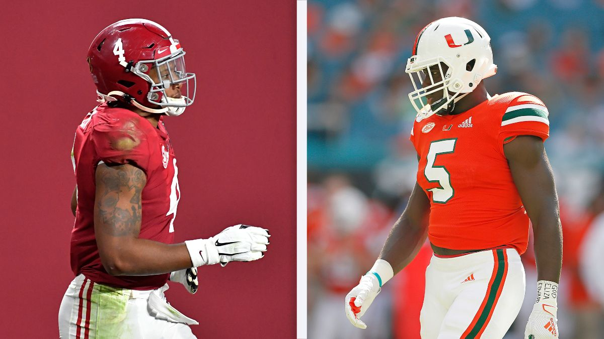 Saturday College Football Best Bets for Alabama vs. Miami: How to Bet Today's Chick-fil-A Kickoff Game (Sept. 4) article feature image