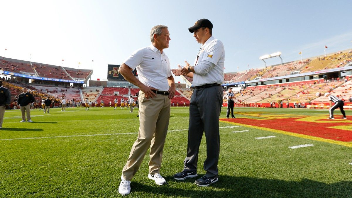 College Football Odds, Pick for Iowa vs. Iowa State: Your Betting Guide for Week 2's Marquee Matchup (September 11) article feature image