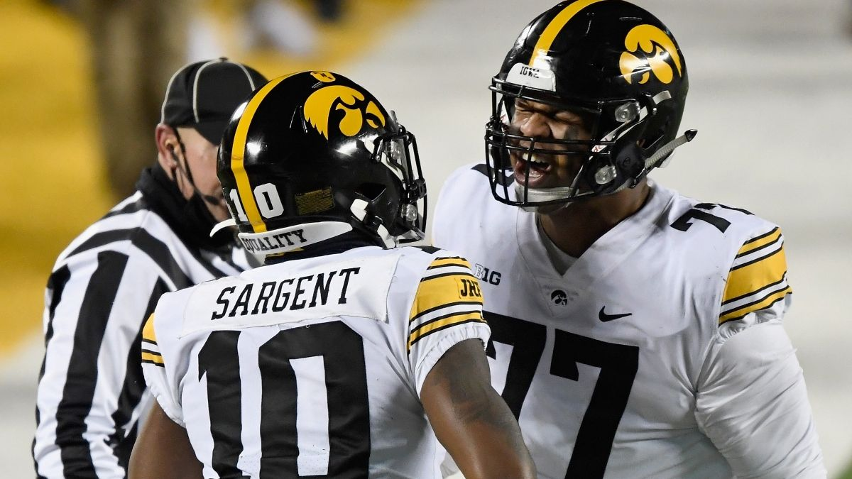Iowa vs. Indiana Odds, Promo: Win $200 if the Hawkeyes Score a Touchdown! article feature image