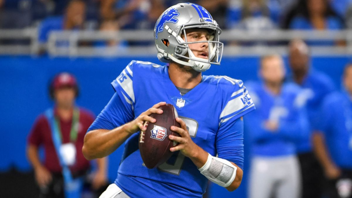 Lions vs. Ravens Odds, Promo: Bet $20, Win $205 if Jared Goff Completes a Pass! article feature image