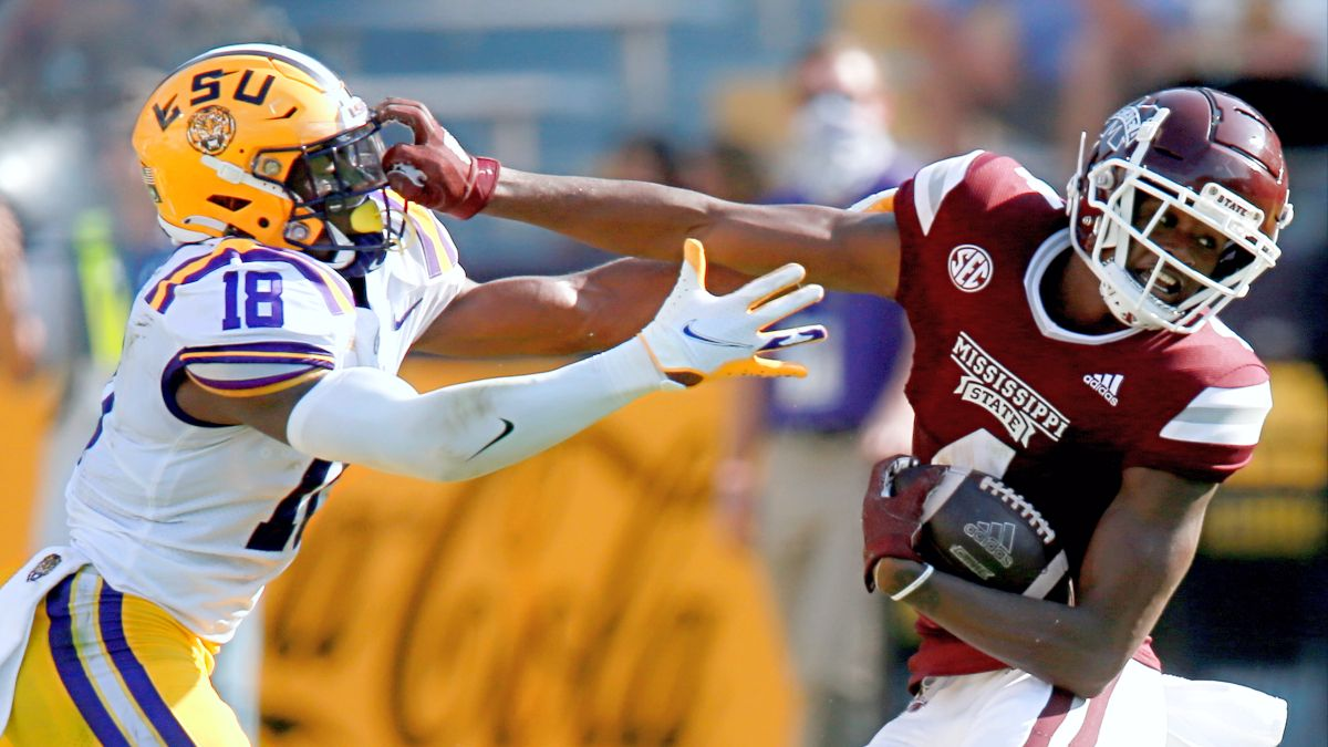 Saturday College Football Odds, Picks, Predictions: Which Side to Bet for LSU vs. Mississippi State? (Sept. 25) article feature image