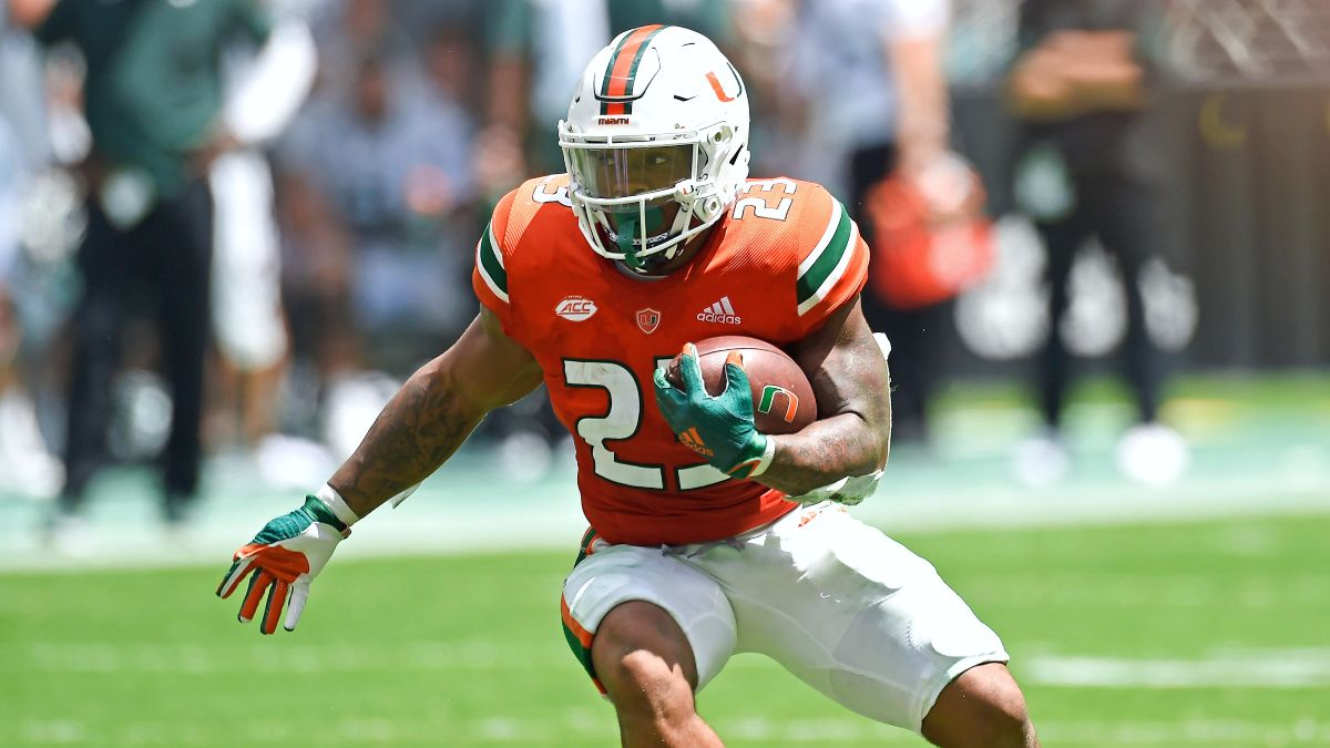 College Football DFS Showdown Strategy, Picks & Predictions for Virginia vs. Miami (Thursday, Sept. 30) article feature image