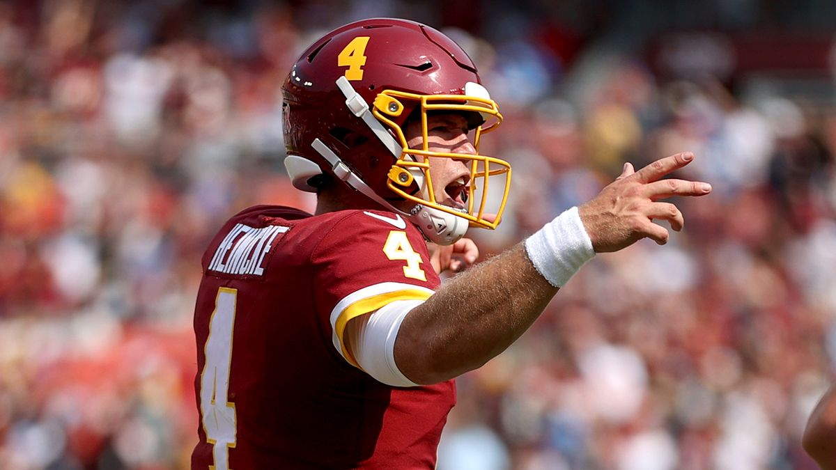 NFL Prop Picks For Thursday Night Football: Taylor Heinicke & More PrizePicks Plays For Giants vs. Washington article feature image