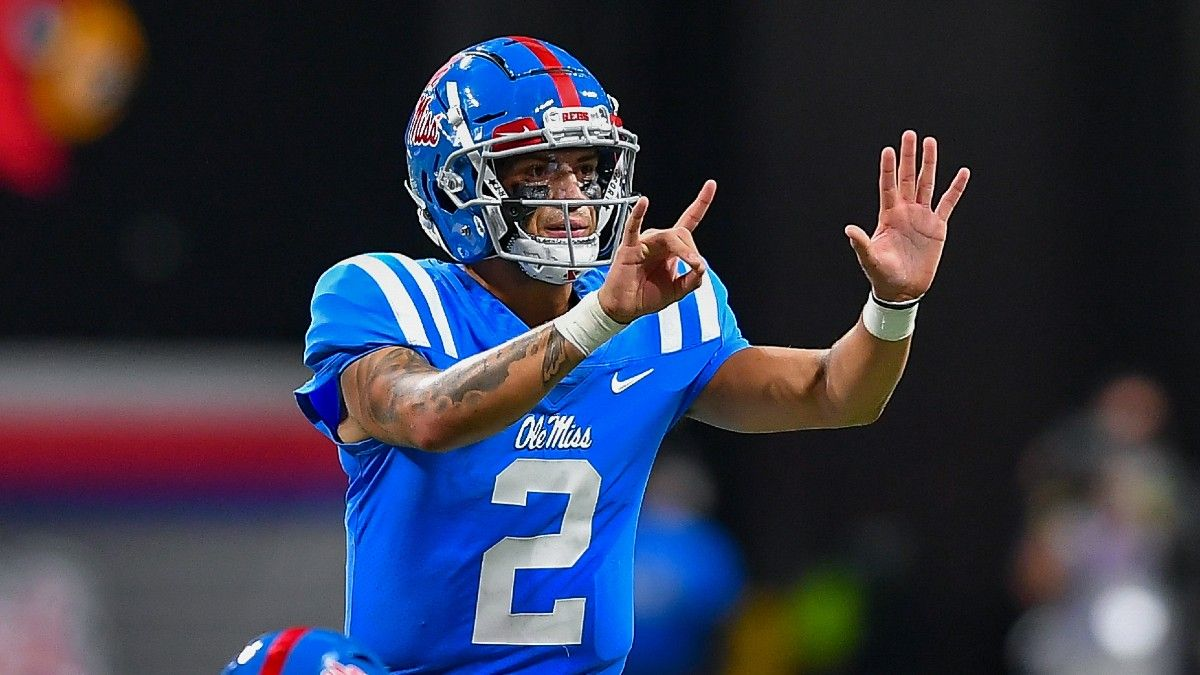 Why Ole Miss QB Matt Corral Isn't Worth a Heisman Trophy Bet article feature image