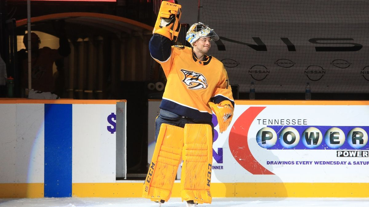 Early NHL Betting Preview: 2021/22 Stanley Cup Odds, Juuse Saros for Vezina, Investing in Jack Hughes and a Sleeper to Bet Now article feature image
