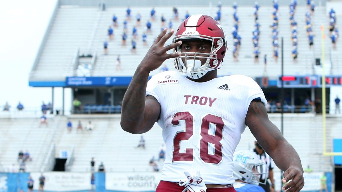 Week 2 College Football Group of 5 Parlay: Our Top Picks, Featuring Wyoming, Liberty & Troy (Sept. 11) article feature image