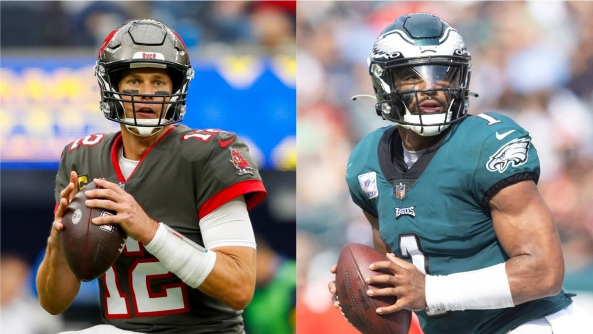 Buccaneers vs. Eagles Odds, Promo: Bet $10, Win $200 if Brady or Hurts Throws for 1+ Yard! article feature image