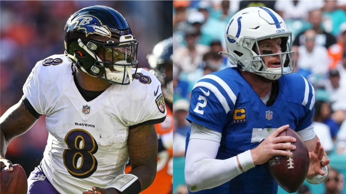 Ravens vs. Colts Odds, Promo: Bet $20, Win $205 if Jackson or Wentz Completes a Pass! article feature image
