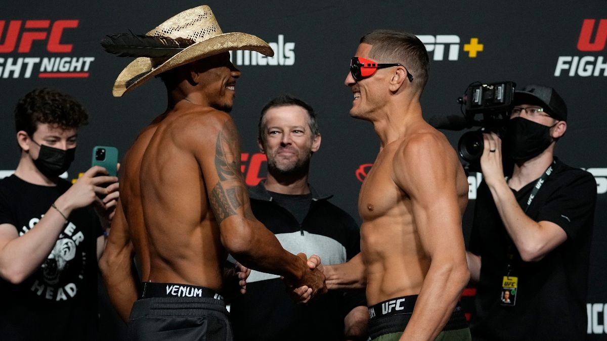 UFC Fight Night Odds, Picks, Projections: Our Staff's Best Bets for Solecki vs. Gordon, Oliveira vs. Price (Saturday, October 2) article feature image