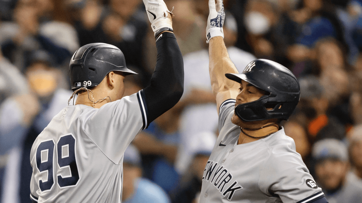 Yankees vs. Red Sox AL Wild Card Prop Bets: Will Aaron Judge or Giancarlo Stanton Hit a Homer at Fenway? article feature image