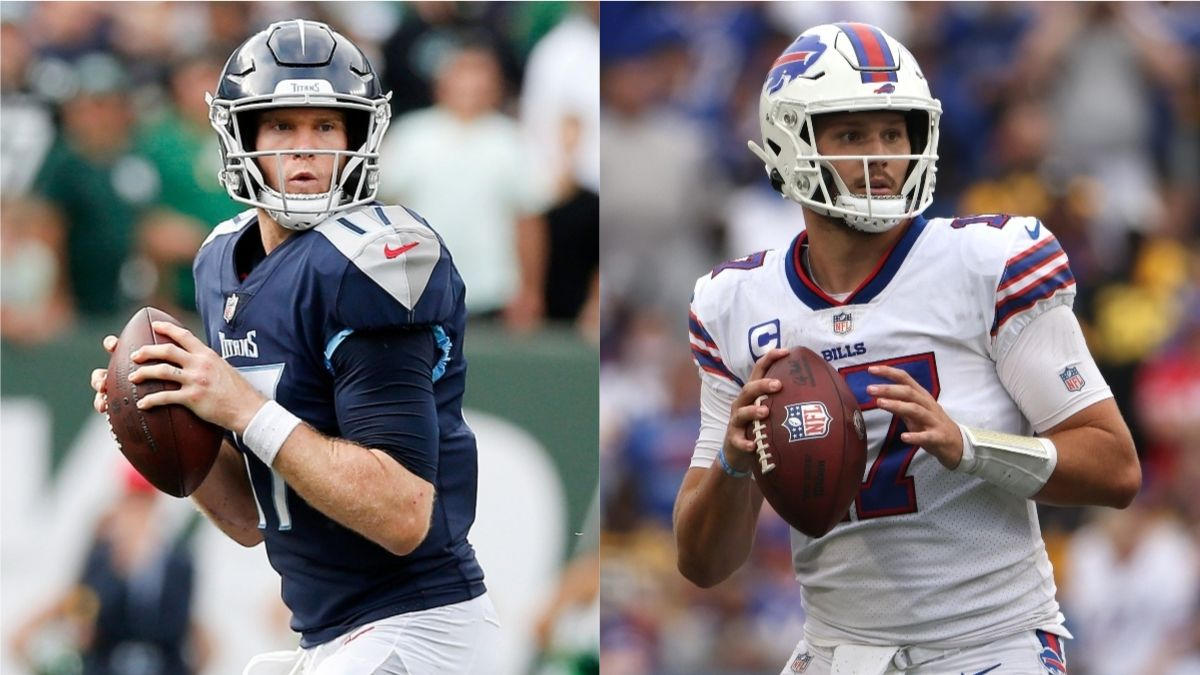 Bills vs. Titans Odds, Promo: Bet $10, Win $200 if Allen or Tannehill Throws for 1+ Yard! article feature image