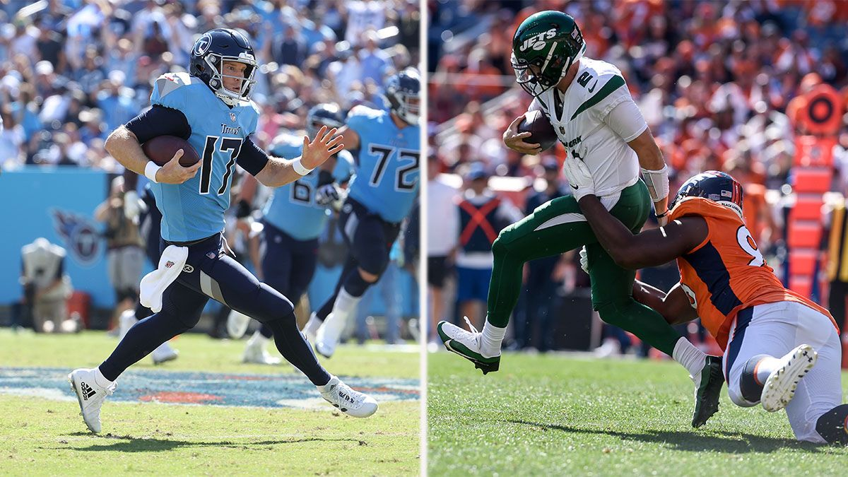 NFL Week 4 Odds: Titans vs. Jets Has More Bets Than Buccaneers vs. Patriots article feature image