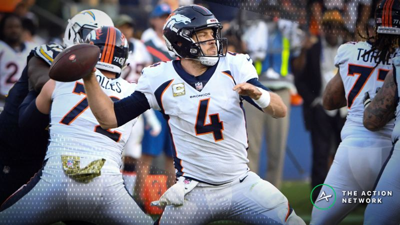 Best Week 13 Player Props Case Keenum Over Under 1 5 Passing Touchdowns The Action Network