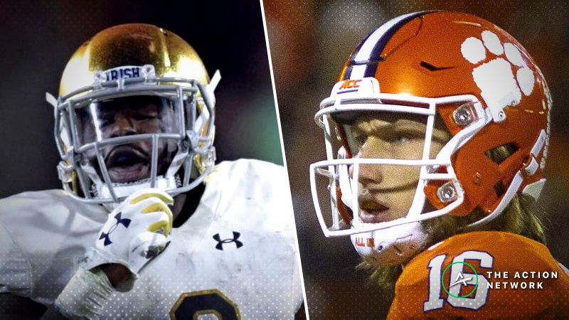 cbc504f6b Clemson-Notre Dame Betting Odds  Tracking Spread Moves for 2018 College  Football Playoff