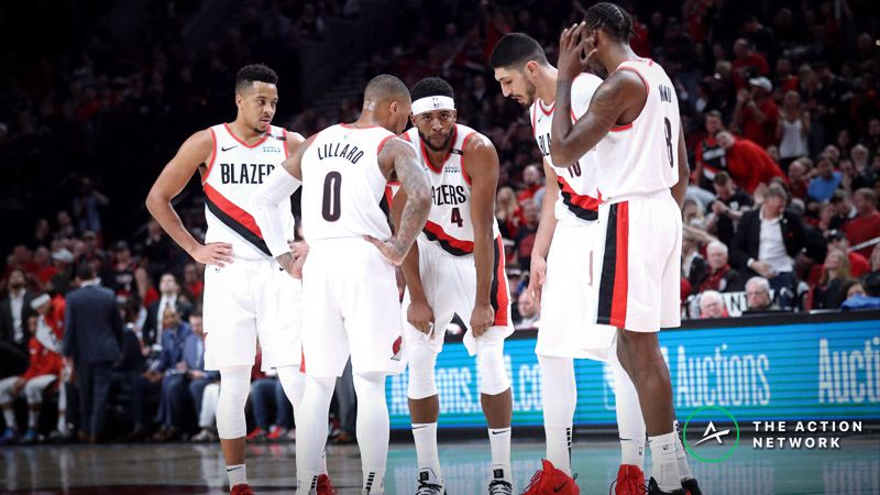 Warriors vs. Blazers Game 4 Betting Preview: Get Out the Brooms in Portland? article feature image