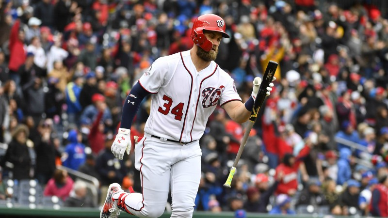 Bryce Harper 2019 Free Agency Odds: No Clear Favorite to Land Nationals Star article feature image