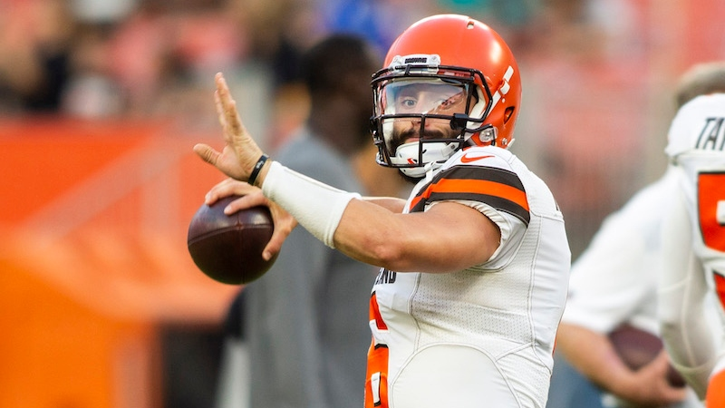 Browns vs. Lions Preseason Betting Odds: Baker Mayfield to Play First Half article feature image