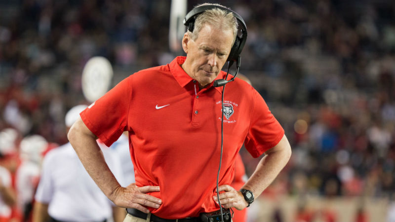 New Mexico 2018 Betting Preview: Bob Davie's Job in Jeopardy article feature image