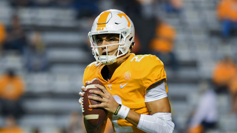 Why Oddsmakers Have Misjudged Tennessee's Quarterback Battle article feature image
