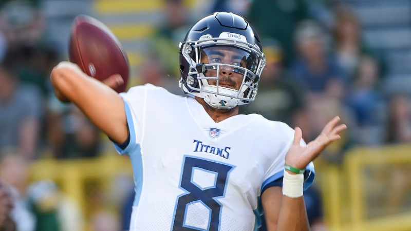 Best NFL Playoff Bets: Mariota Primed to Lead Titans to Postseason article feature image