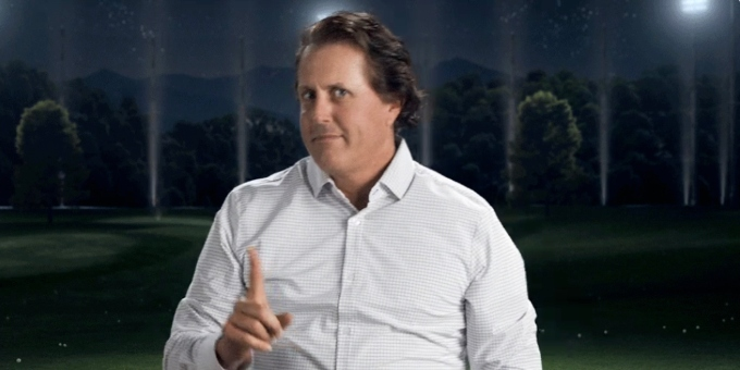 Mickelson on His Commercial Dance Moves: 'It's Fun to Laugh at Yourself' article feature image