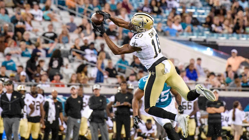 Rams vs. Saints Preseason Betting Odds: Will Tre'Quan Smith Win New Orleans' WR3 Job? article feature image