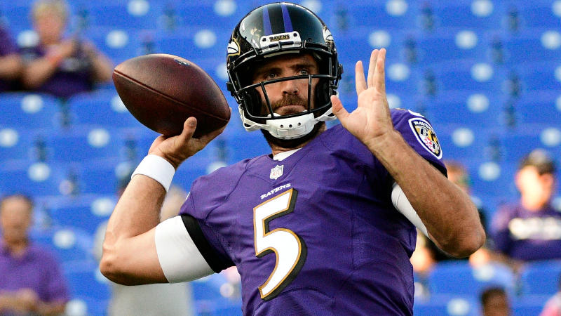 Dolphins vs. Ravens Preseason Betting Odds: Public Backing Motivated Joe Flacco article feature image