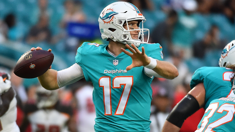 Dolphins vs. Panthers Preseason Betting Odds: Who Will Be Tannehill's Top WR? article feature image