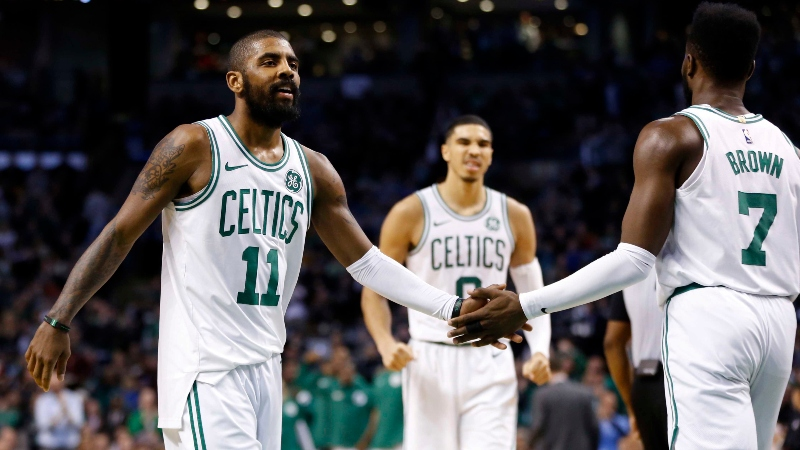Celtics Season Win Total: Will Irving and Hayward's Return Make the Difference? article feature image