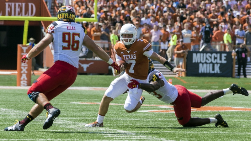 Texas-Maryland Leads Key College Football Week 1 Line Moves article feature image