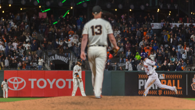 Giants Bettors Buried After Astros Held Scoreless Over First 26 Outs article feature image