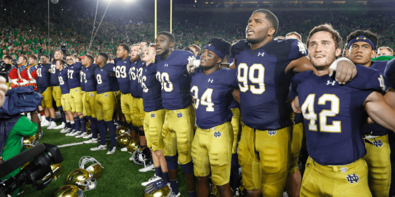 Notre Dame vs. UNC Odds & Promos: Bet $1, Win $100 if Notre Dame Scores a TD! article feature image