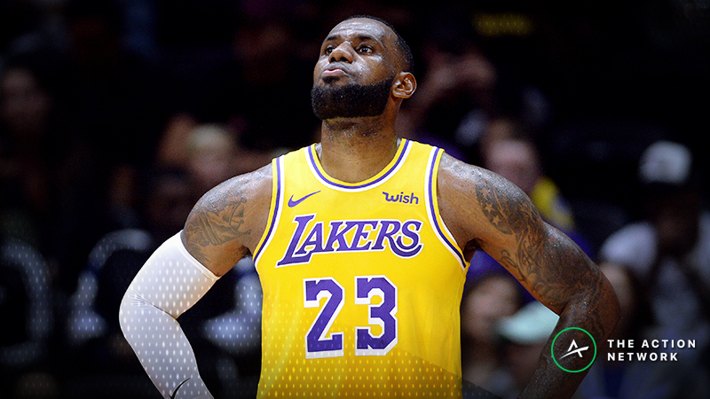 LeBron James' Status Causing Pelicans-Lakers Line Movement article feature image